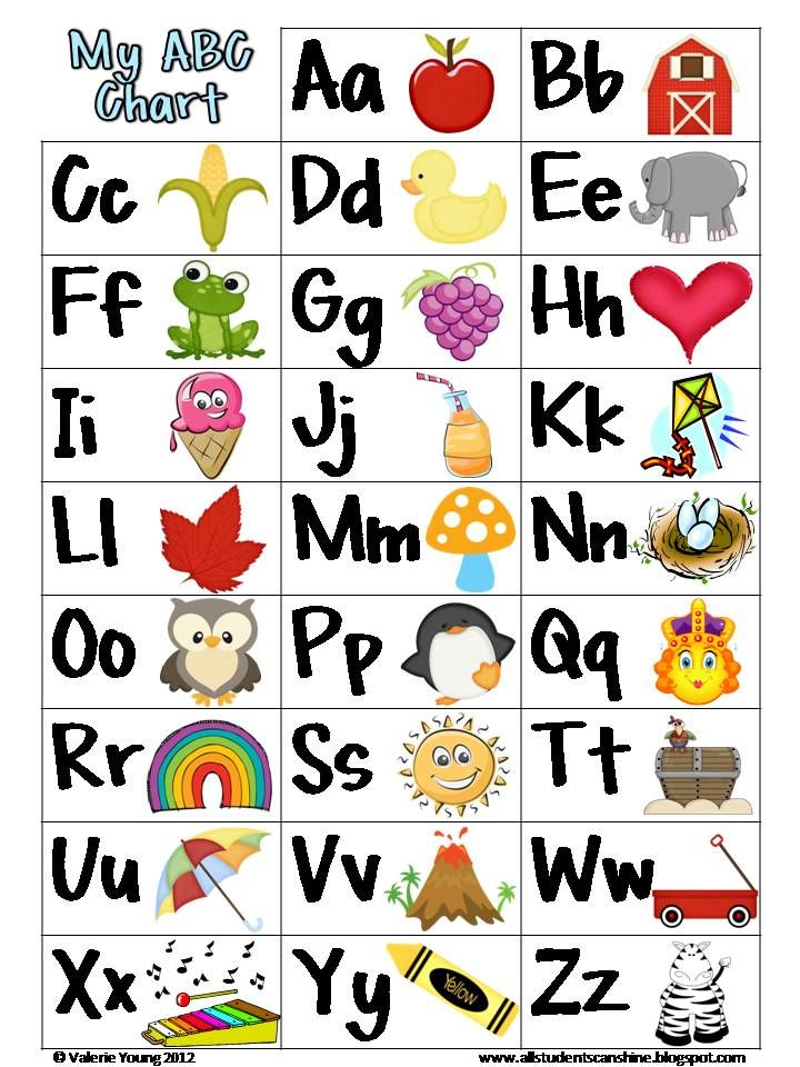 Free printable abc chart kindergarten also school stuff rh pinterest