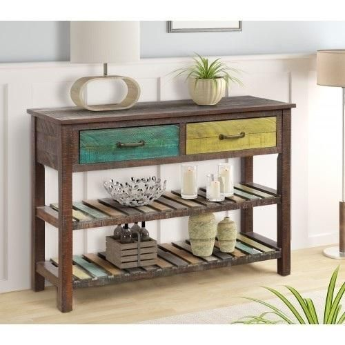 Console Table Sofa Table Console Tables for Entryway Hallway Bathroom Living Room with Drawers and 2 Tiers Shelves#bathroom #console #drawers #entryway #hallway #living #room #shelves #sofa #table #tables #tiers