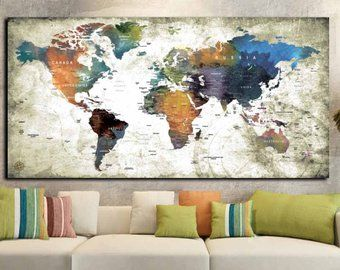 World map single panel wall artworld mapword map wall artworld world map single panel wall artworld mapword map wall artworld map canvas large world mapworld map printworld map panelworld map art maps gumiabroncs Choice Image