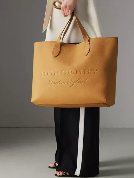 b630b46abe01 The Remington Embossed Leather Tote Ochre Yellow  1250