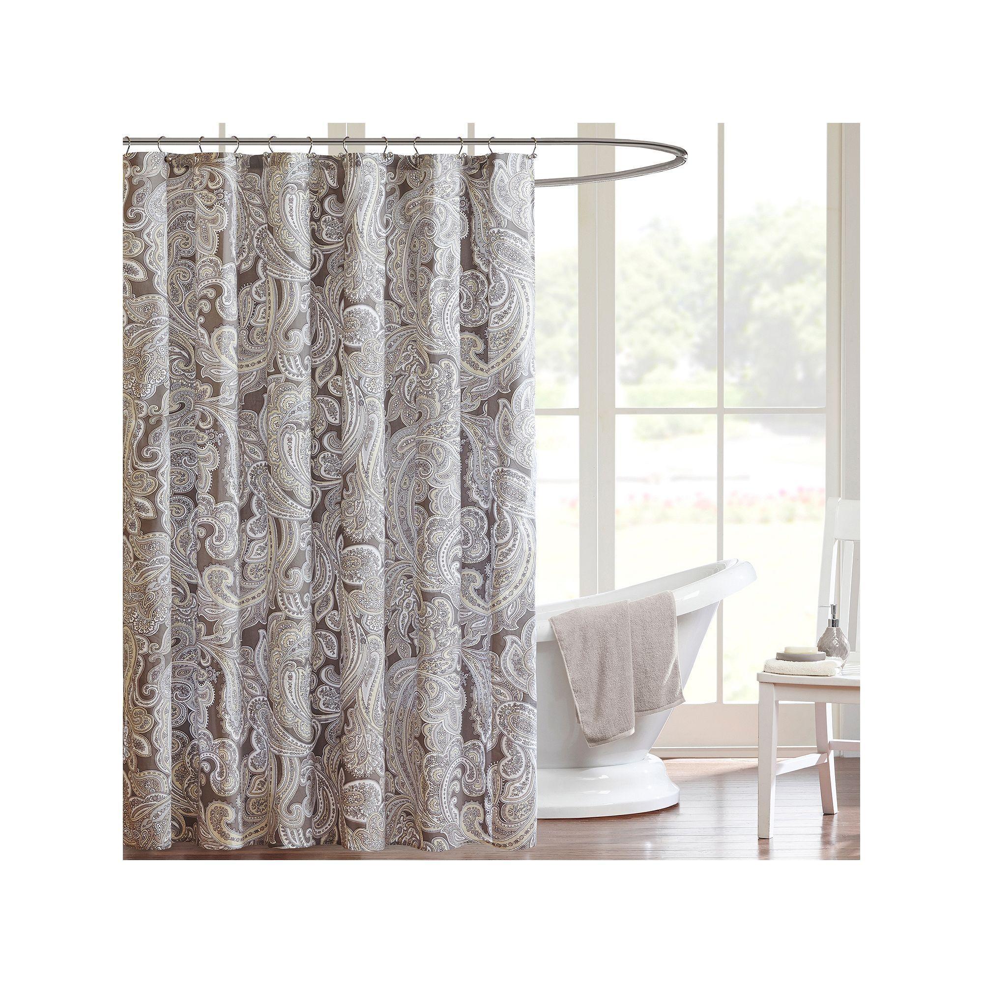 Madison park pure dermot shower curtain grey