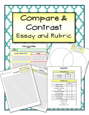 Compare Contrast Essay Examples High School Compare And Contrast Essay And  Rubric From The Resourceful Teacher .