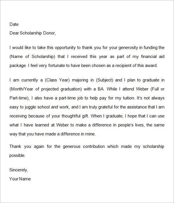 Sample thank you letter for scholarship google search thank you sample thank you letter for scholarship google search expocarfo Image collections