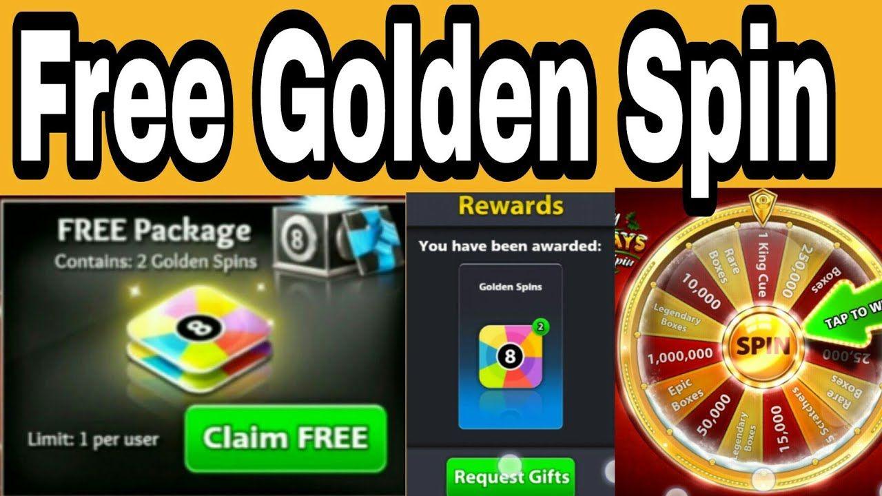 8 Ball Pool Golden Spin Free No Hack Code Apk Pool Balls Pool Hacks Spinning