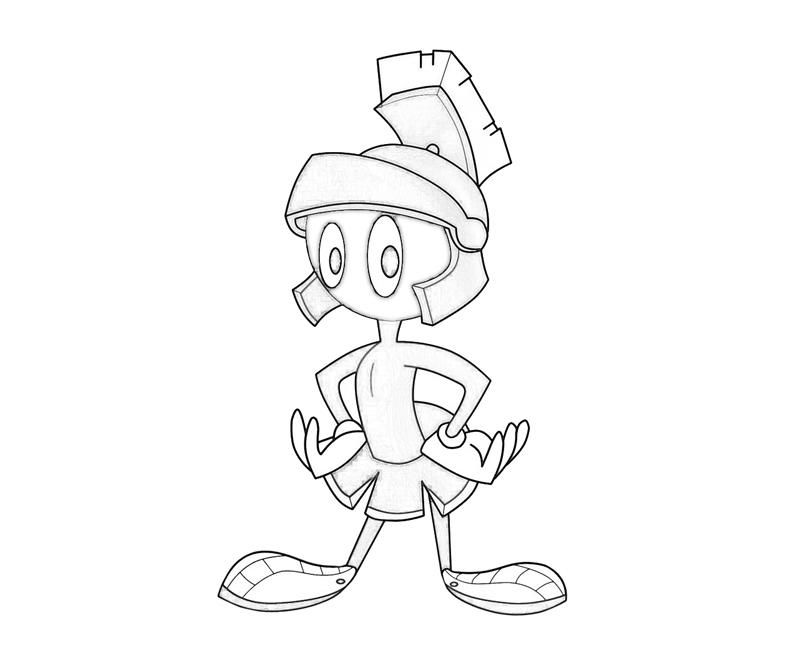 marvin the martian - Marvin The Martian Coloring Pages