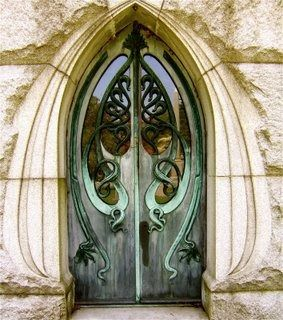 Art Nouveau doors Wouldn't this be beautiful as a Fairy House door? So elegant. Maybe for a Fairy Mansion?