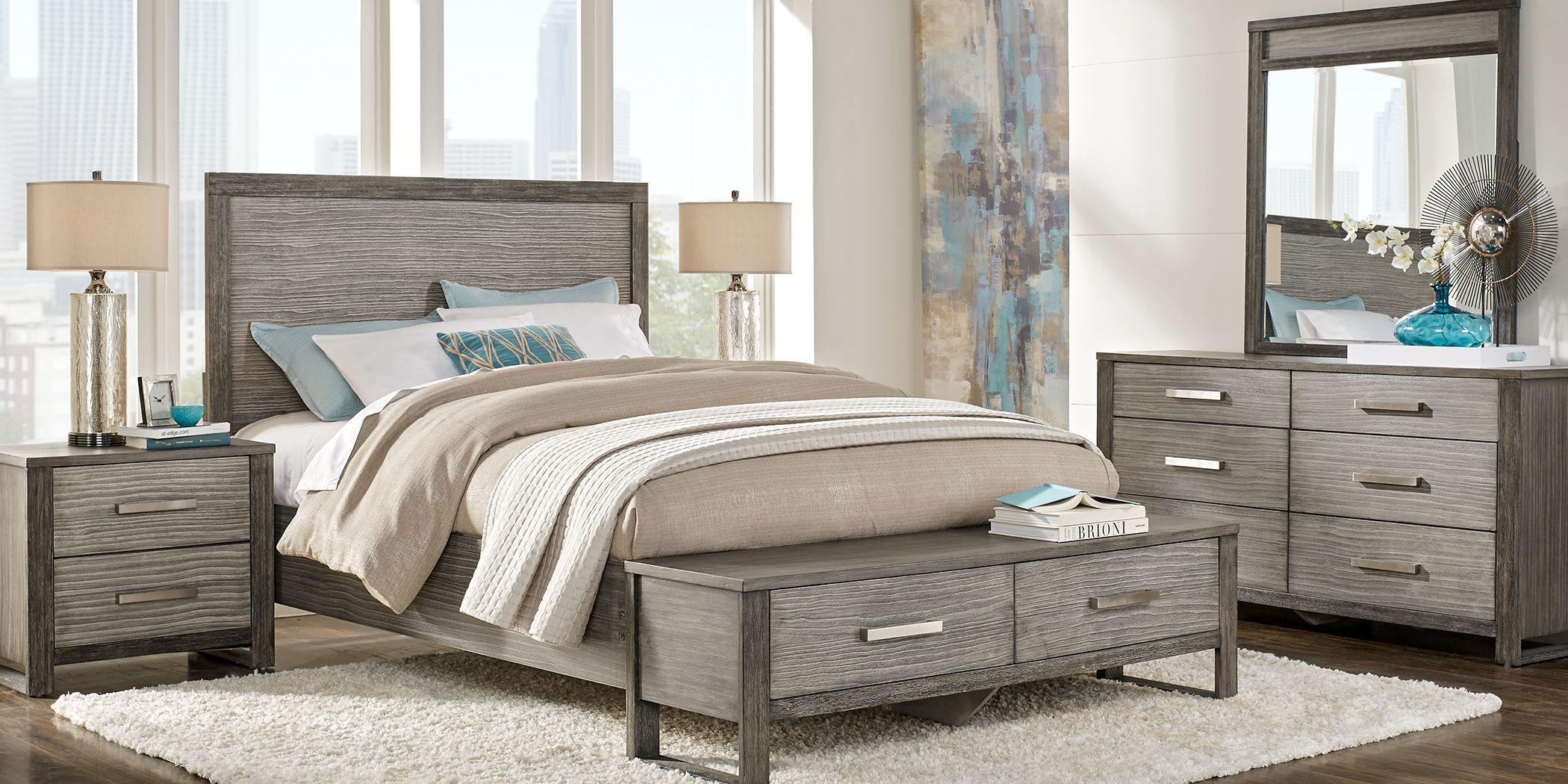 Abbott Gray 7 Pc Queen Panel Bedroom with Storage in 2020