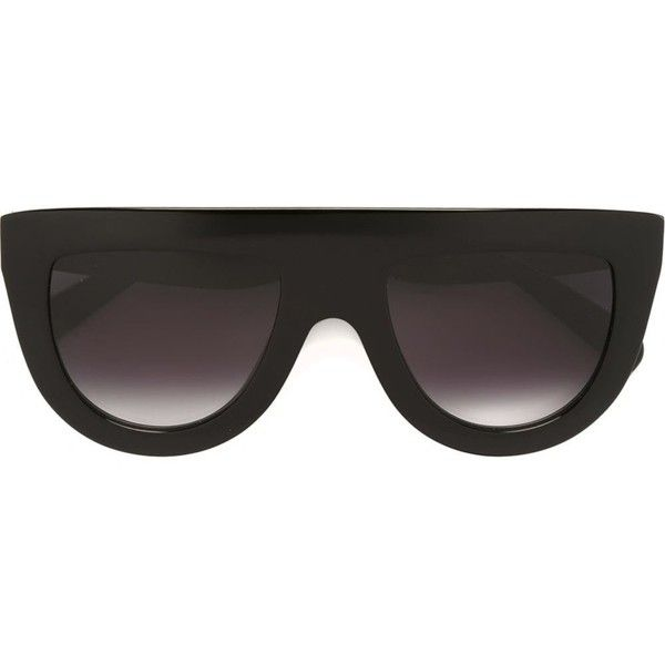 2b9babfe60 Céline Eyewear gradient half moon sunglasses ( 350) ❤ liked on Polyvore  featuring accessories