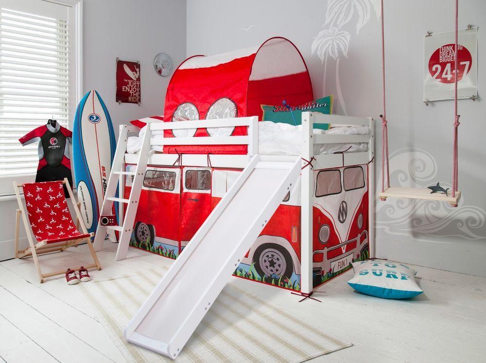 Details About Cabin Bed Midsleeper With Slide Campervan Tent