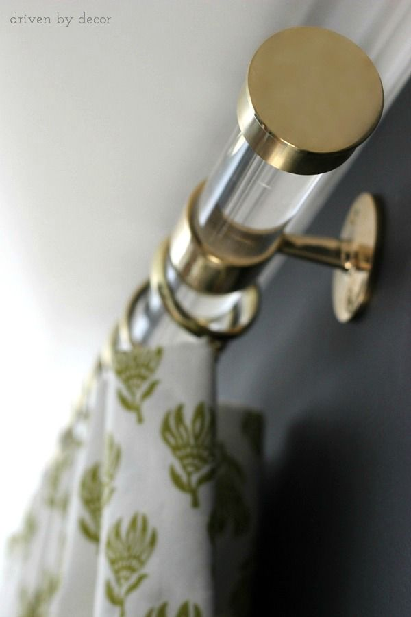 brass curtain rods. Acrylic Curtain Rods With Brass Hardware - Driven By Decor O