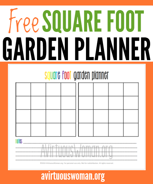 Printable Square Foot Garden Planner Garden planner Square foot