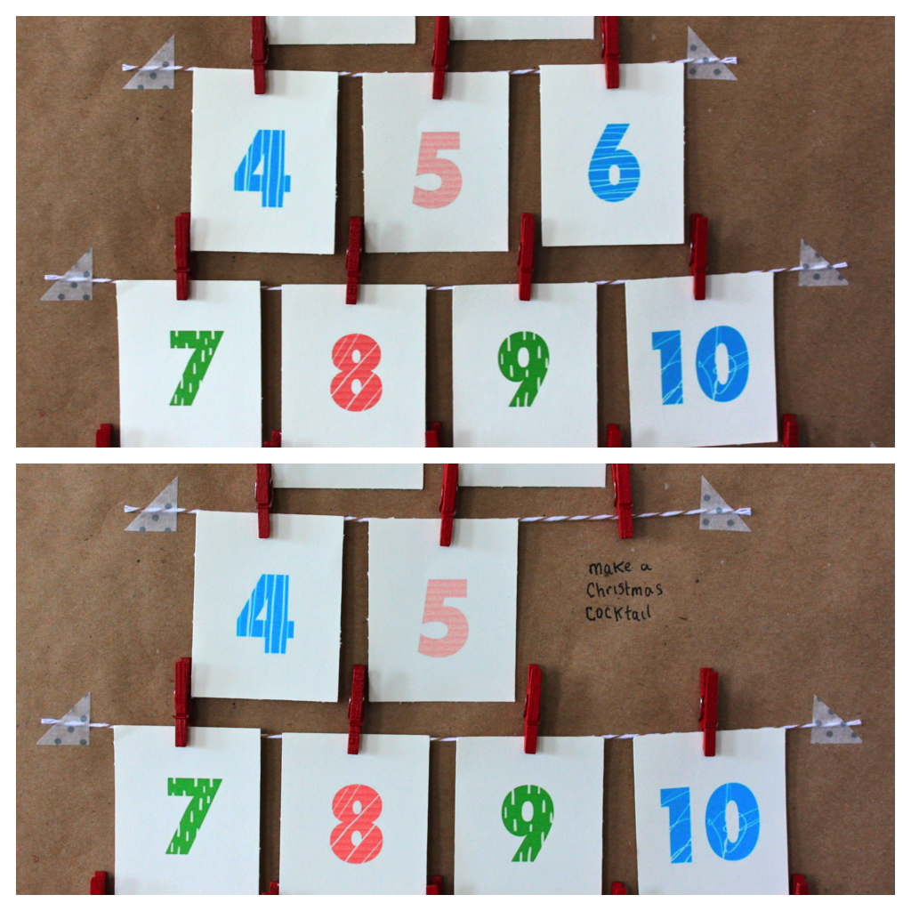 Put Secret Messages Behind Each Day On Your Advent