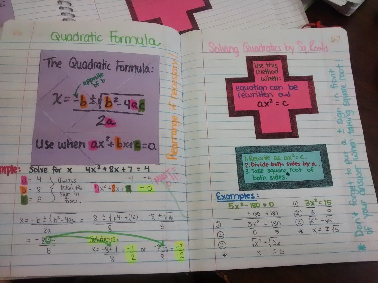 Algebra 2 Unit 3 Was All About Solving Quadratic Equations