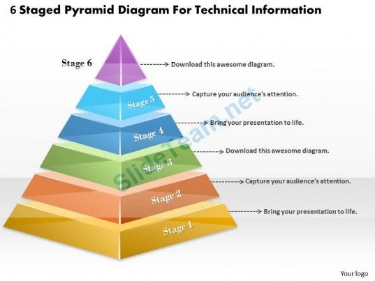 1013 business ppt diagram 6 staged pyramid diagram for technical