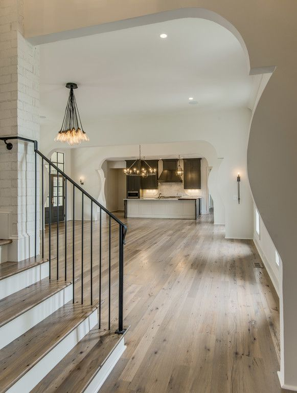 terrific modern living room hardwood floor | 4240 Wallace - Vintage South Development | Living room ...