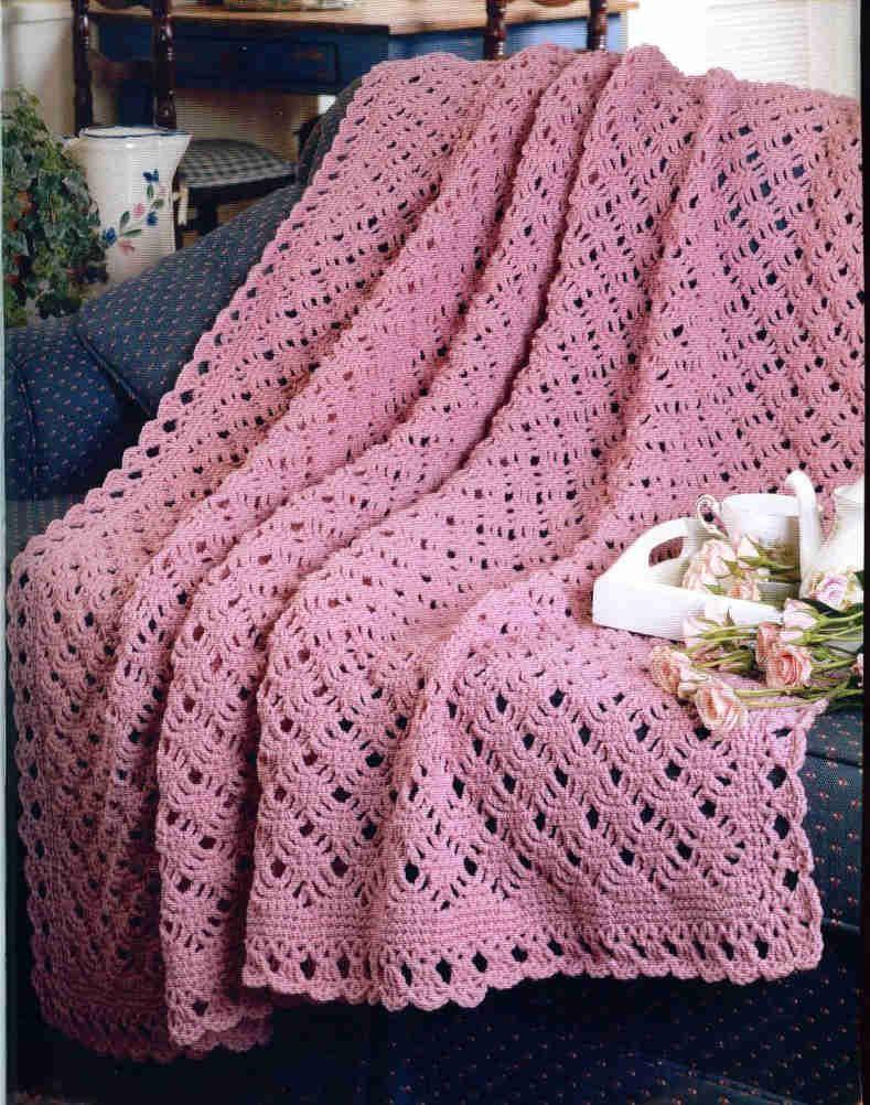 crochet magazine spimder lace afghan with patttern   Crochet 2 ...