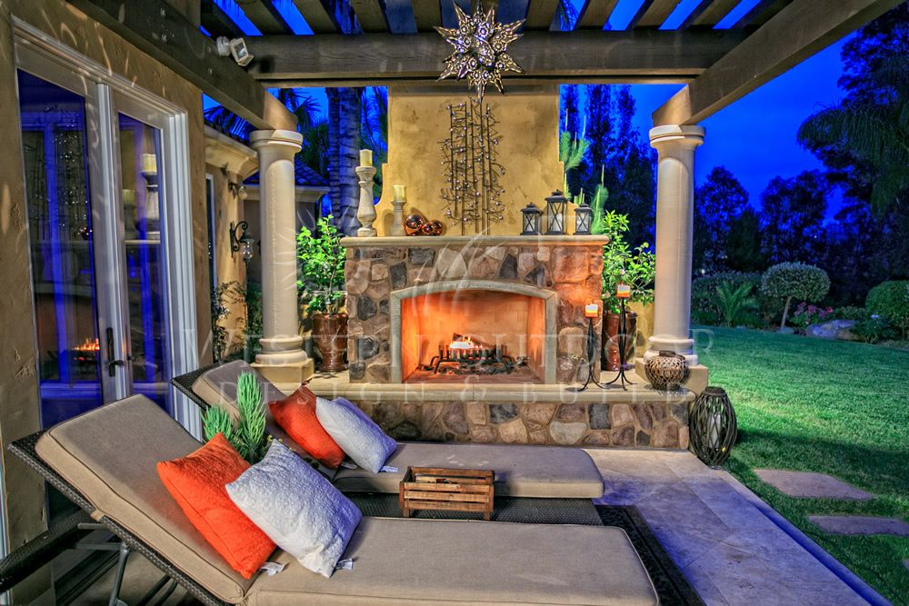 Outdoor Living Room with Fireplaces Gallery Western ... on Riverside Outdoor Living id=41324