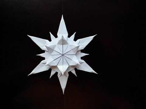 Красивая снежинка оригами, (Riccardo Foschi) Beautiful snowflake origami