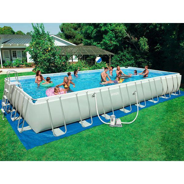 Intex Ultra Frame Rectangle Ag Pool 16ft X 32ft X 52in
