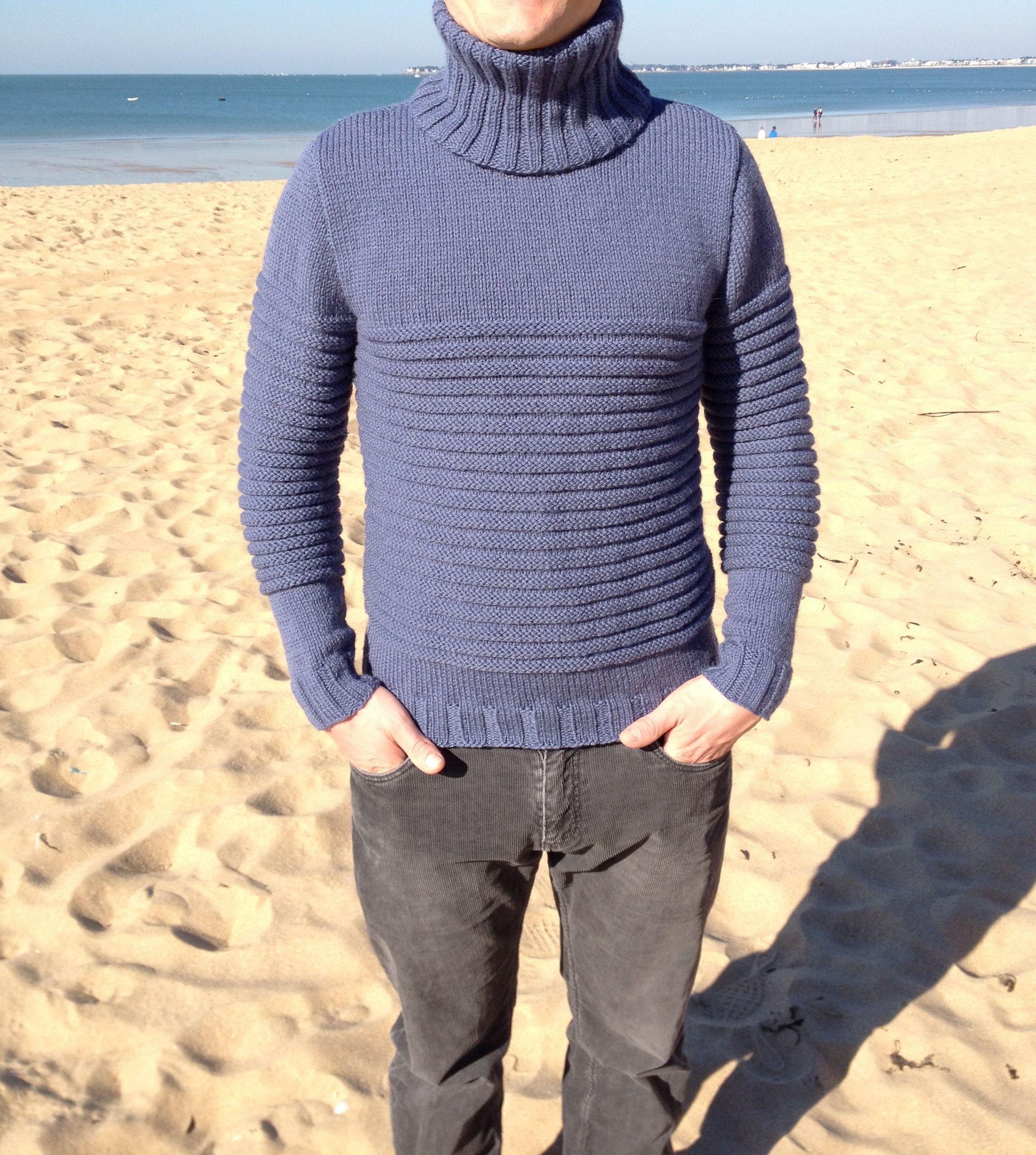 Pull du chéri - modèle Phildar / boyfriend sweater - pattern from Phildar