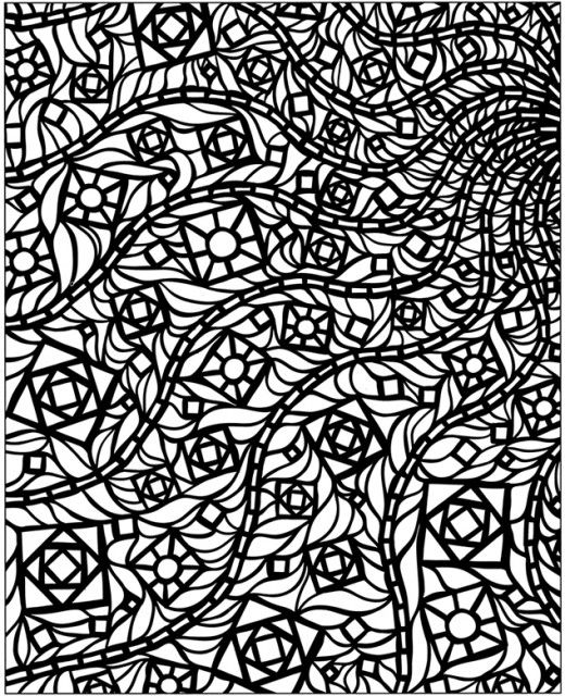 Challenging Geometric Design Colouring Pictures Stained Glass Pages To Print And Colour Ready For