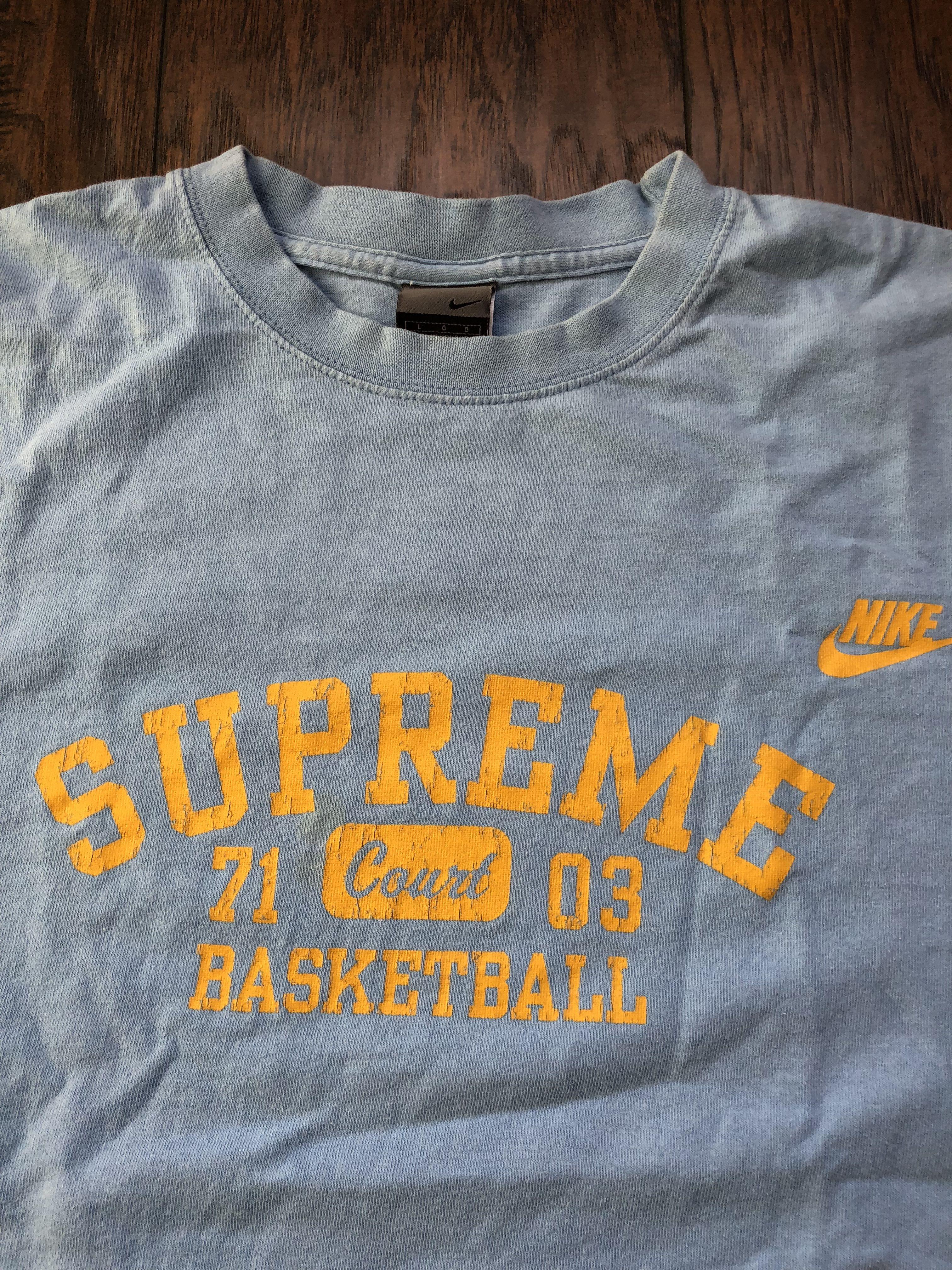 Vintage Nike Supreme Basketball Baby Blue T Shirt Vintage Clothing Men Vintage Nike Sell Shirts