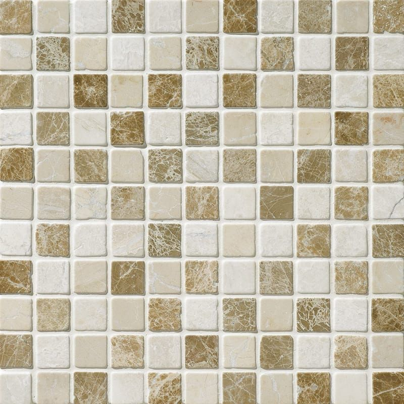 Milano Blend Tumbled 1x1 Marble Mosaics 12x12 Country Floors Of America Llc In 2020 Marble Mosaic Marble Mosaic Tiles Marble Tile Floor