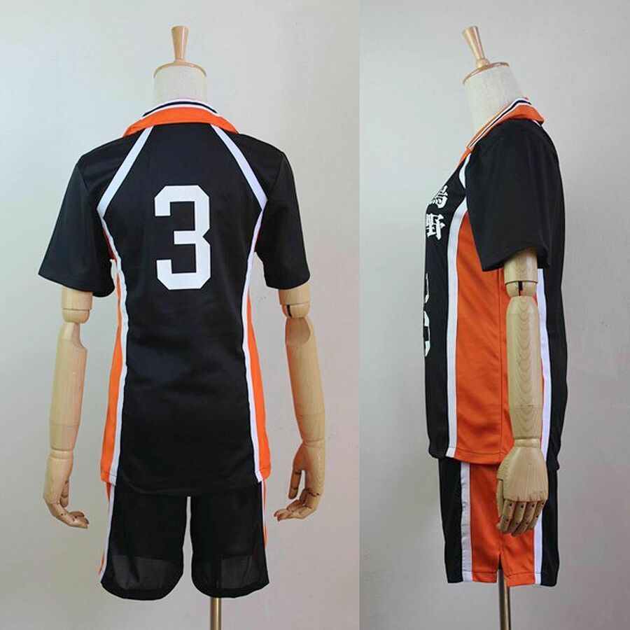 Haikyuu Hot Karasuno High School Uniform Volleyball Jersey Costume Cosplay 1 12 Affiliate High School Kar High School Uniform School Uniform Haikyuu Cosplay
