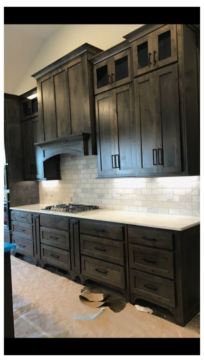 Espresso Stained Kitchen Cabinets Stain Color For Floors In 2020 Rustic Kitchen Design Rustic Kitchen Kitchen Design