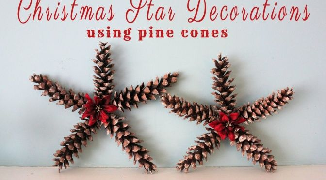 My new tree topper??? - Christmas Star Decorations Using Pine Cones