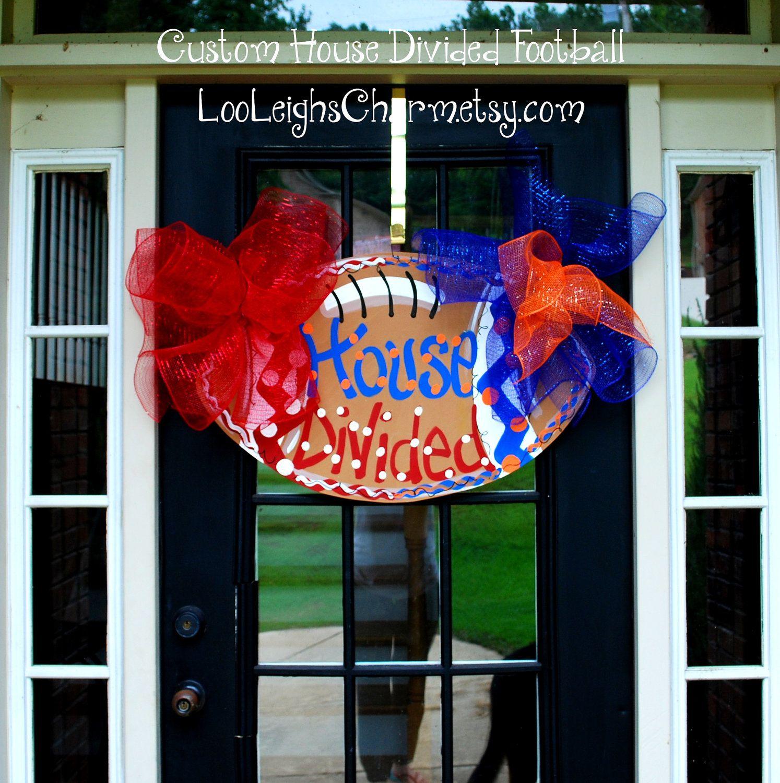 Football Door Hanger House Divided Door Hanger Alabama Crimson Tide Auburn Football. & Football Door Hanger House Divided Door Hanger Alabama Crimson ...