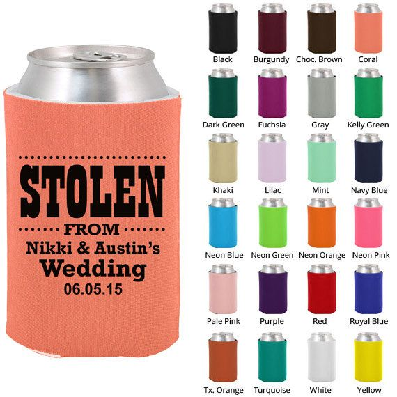 Wedding Koozies Clipart 1099 Stolen From Wedding Personalized