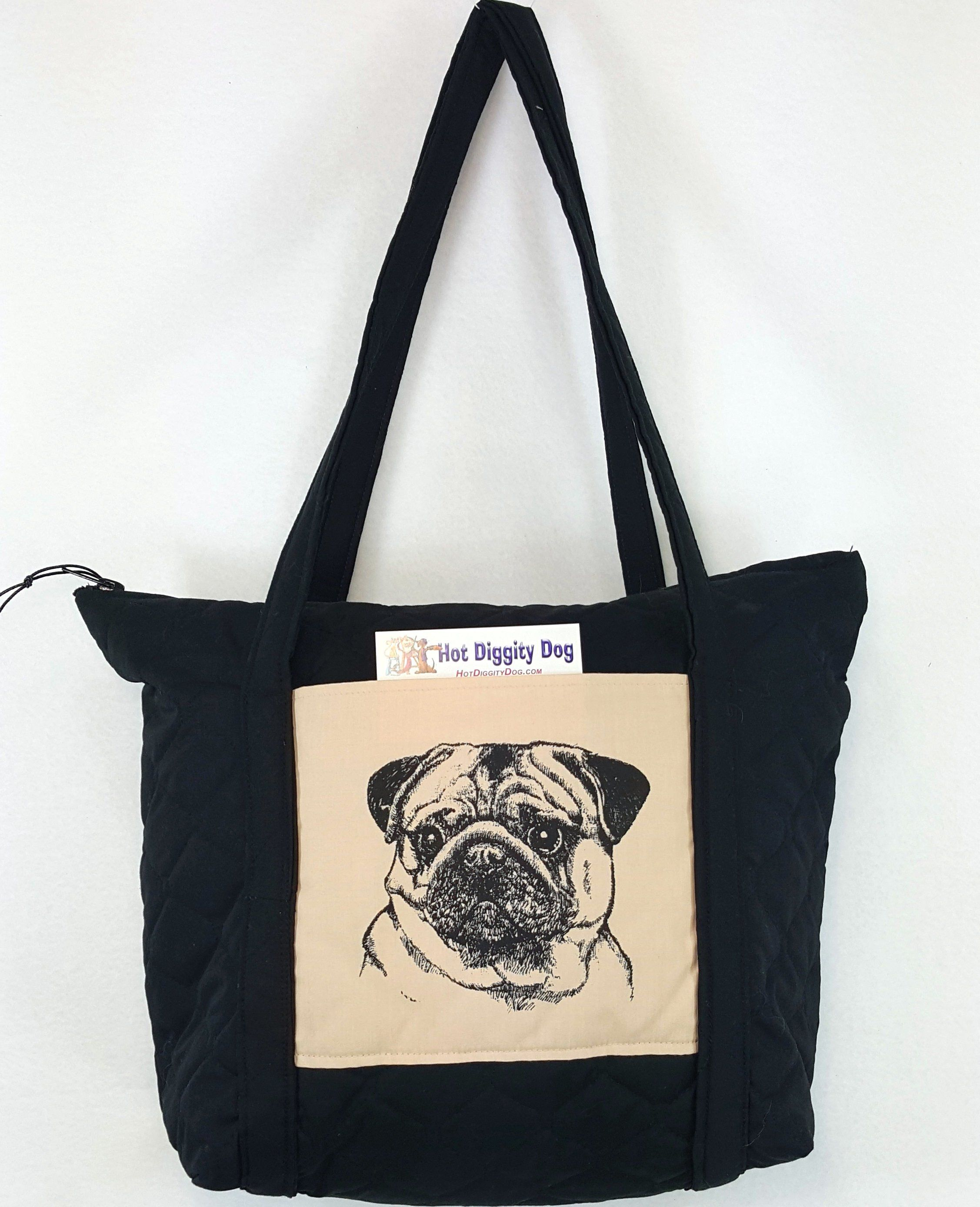 be0912f9174 Pug Handbag Purse Hot Diggity Bags And Purses Handbags Top