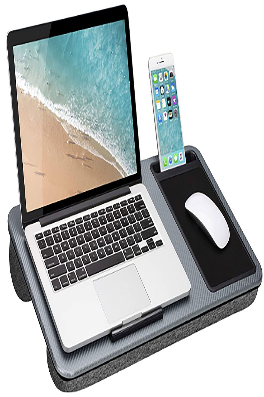 Laptop Lap Board with Mouse Pad and Phone slot