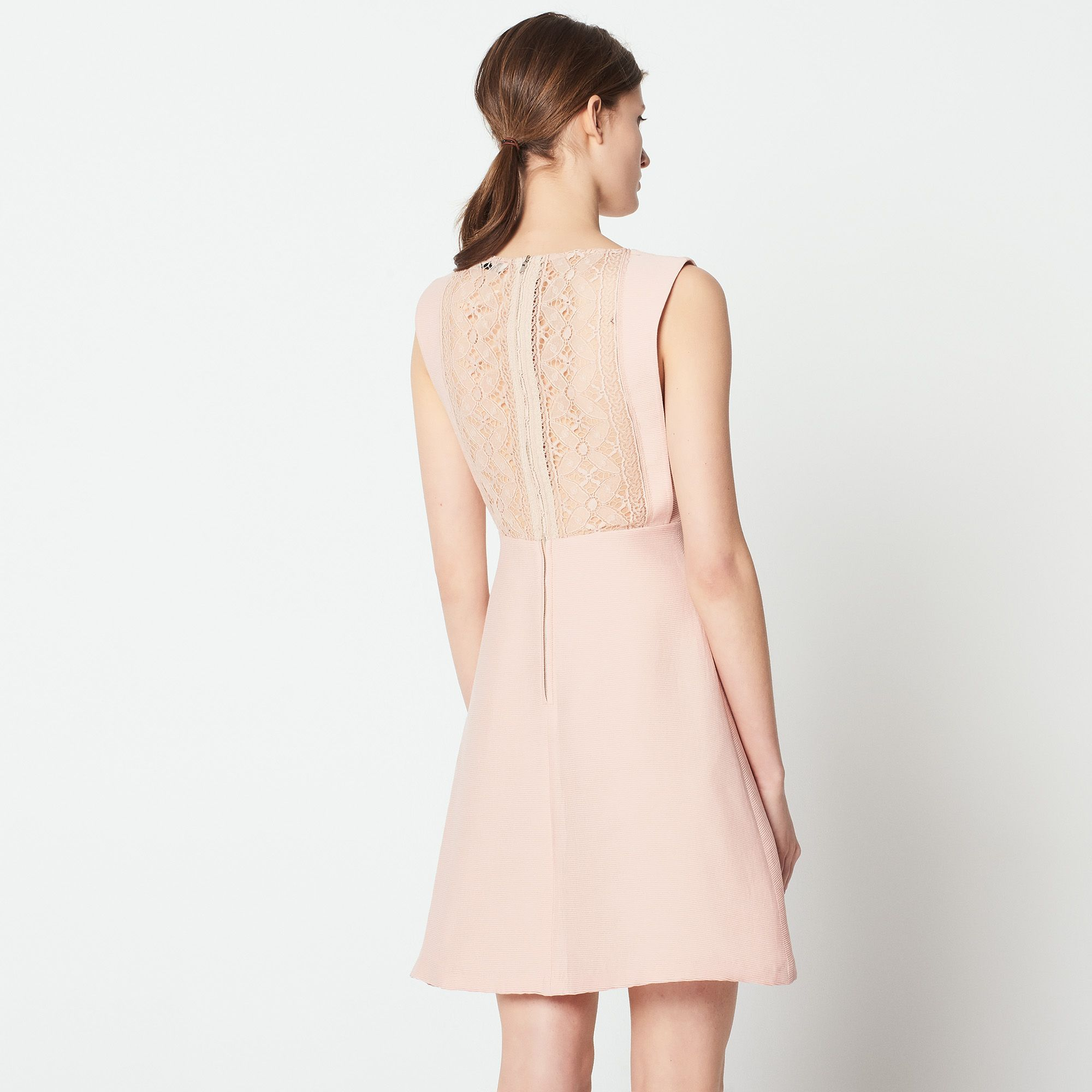 Sleeveless Dress Lace Back Dresses Sandro Paris Com Cheap Summer Outfits Lace Back Dresses Dresses