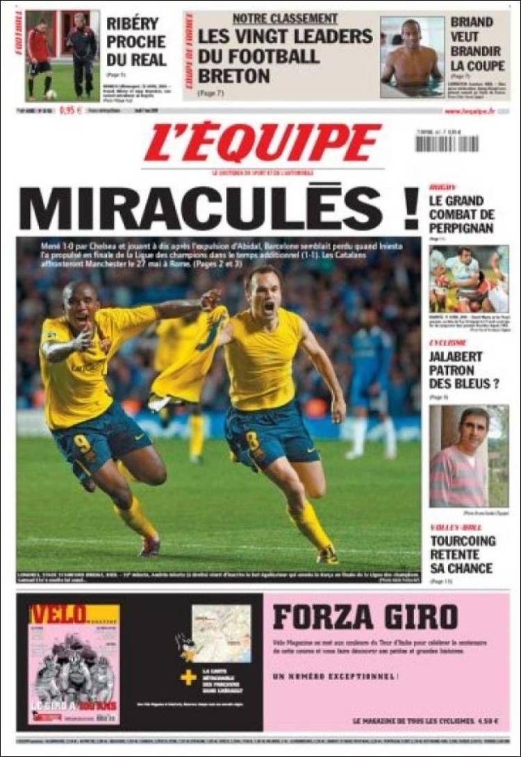 L'Équipe - Jeudi 7 Mai 2009 - N° 20026
