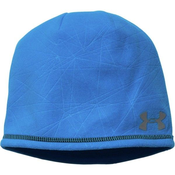 Under Armour Emboss Run Beanie ($28) ❤ liked on Polyvore featuring accessories, hats, short beanie, under armour, under armour beanie, under armour hat and beanie hats