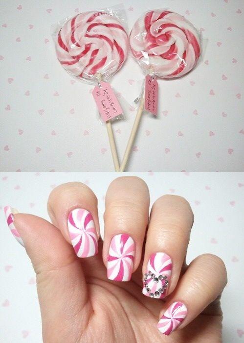Candy pink nail art