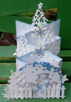 Cascade Card Template Google Search Cascading Card Christmas Card Inspiration Christmas Card Crafts