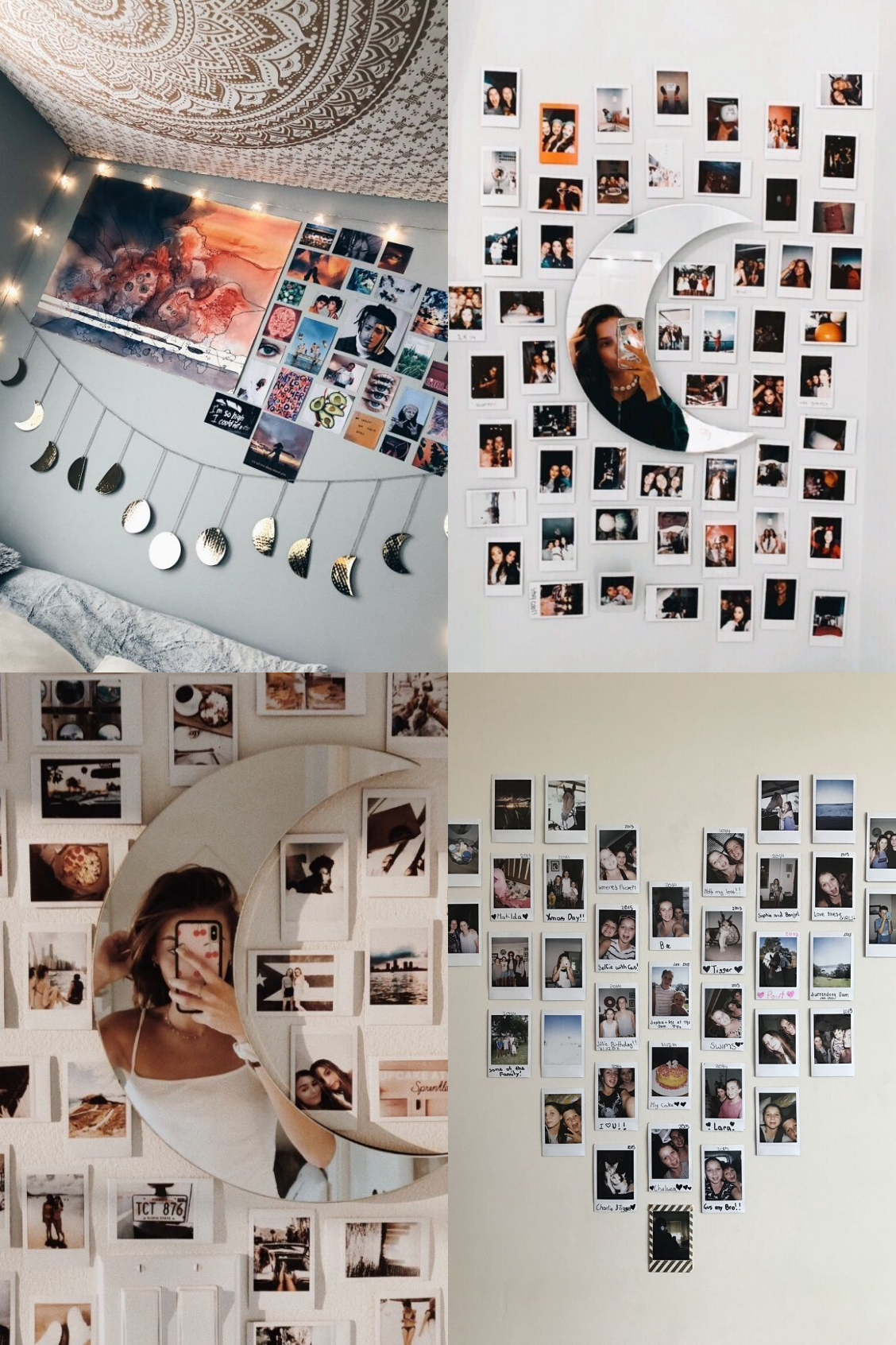 10 Photo Wall Collage Ideas For Your Bedroom Photo Walls Bedroom Wall Decor Bedroom Cute Bedroom Decor