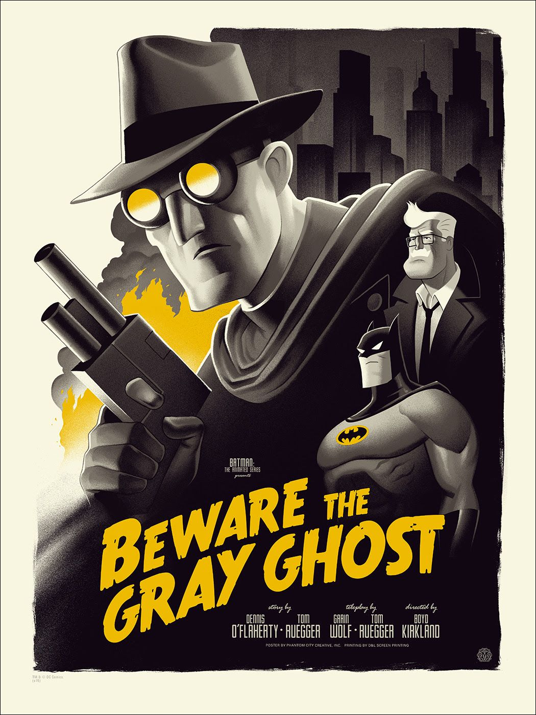 Phantom City Creative Beware the Gray Ghost & On Leather Wings Batman The Animated Series Posters