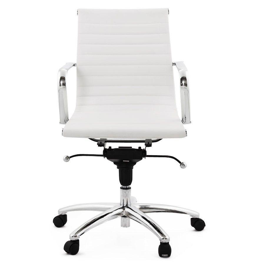 Design Bureaustoel Wit.Design Bureaustoel Mega In Wit Kunstleder Decor Furniture Design