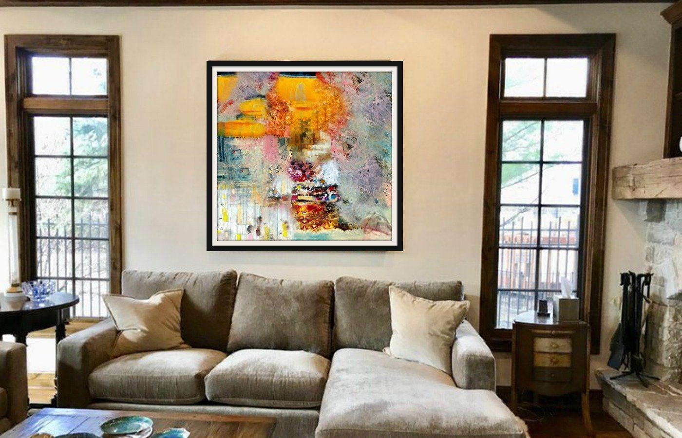 abstract print modern art art home decor statement wall