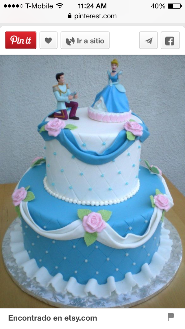 Princesa Torturi Pinterest Cake Birthday cakes and Disney