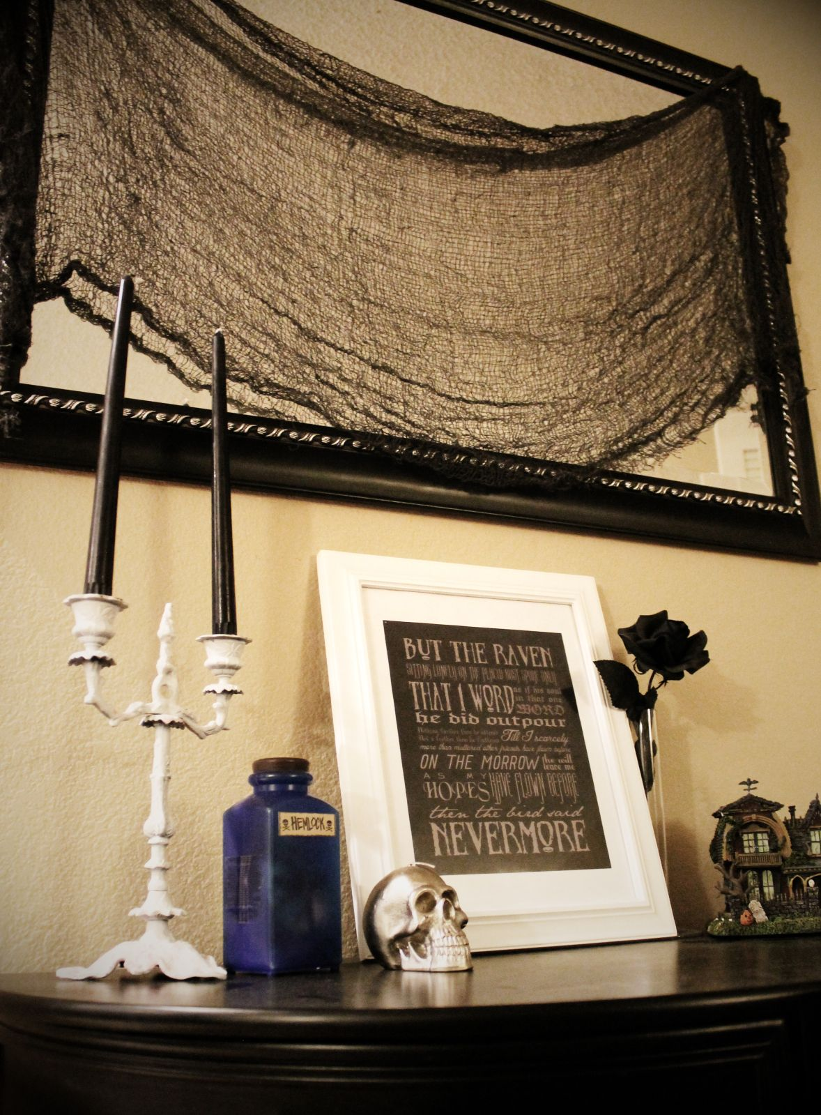 Halloween Decorations Ideas Inspirations Edgar Allan Poe Print
