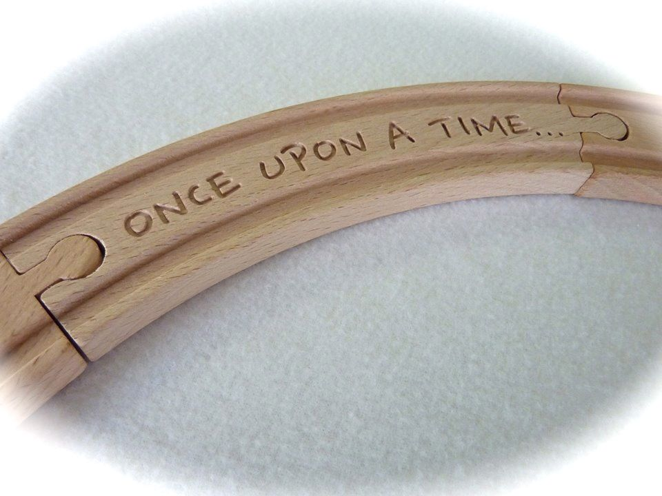 Personalized Brio wooden train track by www.woodpeckers.ch