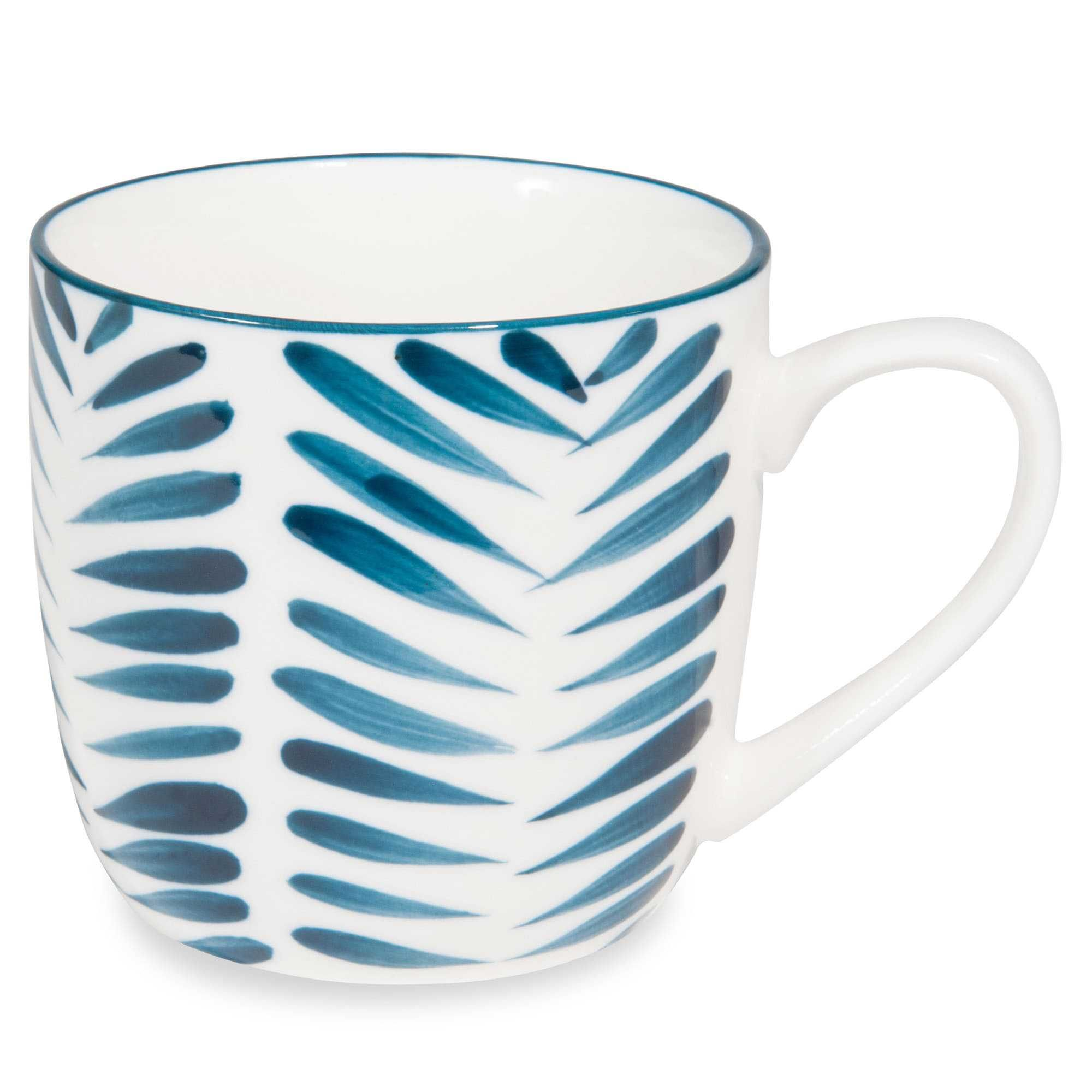 mug en porcelaine motifs feuilles bleues escale lot de 2 mug pinterest porcelaine. Black Bedroom Furniture Sets. Home Design Ideas