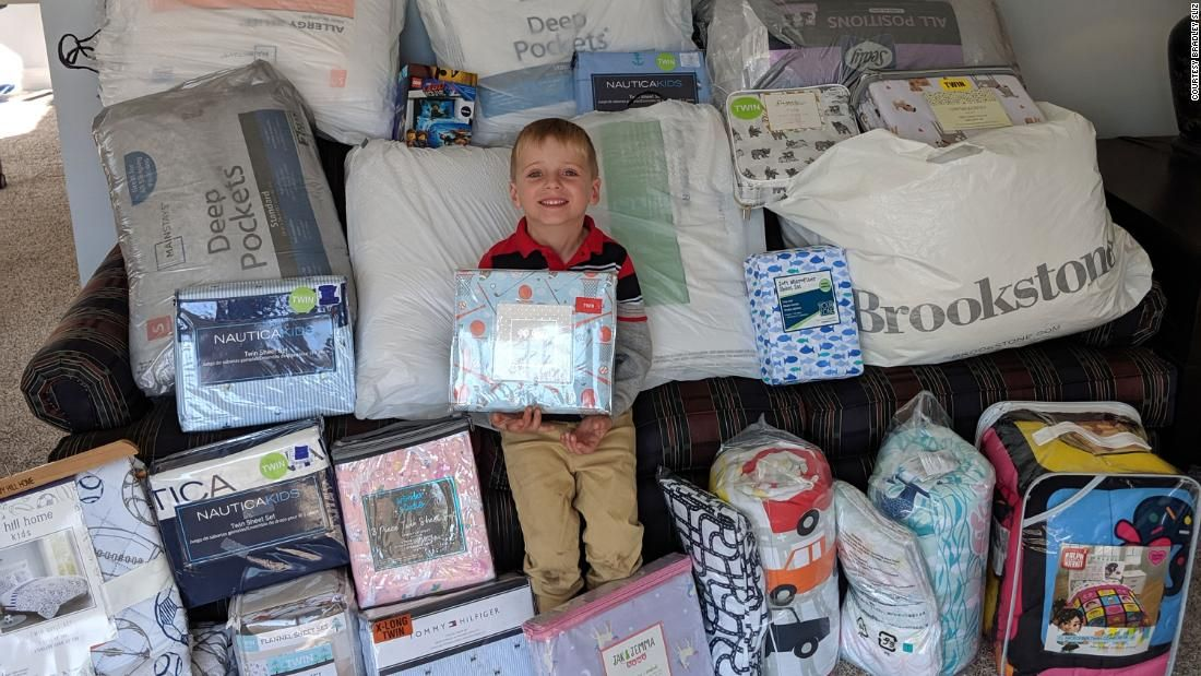 A fiveyearold boy asked for bedding on his birthday and