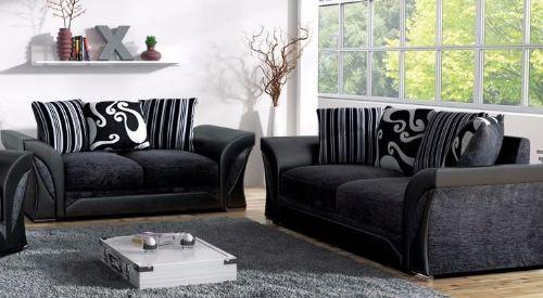 2 Piece Fabric Sofa Set Sd069