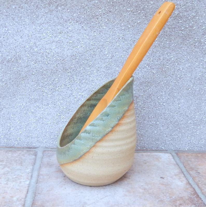 Spoon rest hand thrown stoneware pottery ceramic spoonrest handmade wheelthrown